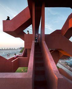 Architecture Awards, Amazing Architecture, Contemporary Architecture, Architecture Details, Interior Architecture, Classification Des Arts, Thailand Pictures, Labyrinth, Staircase Design