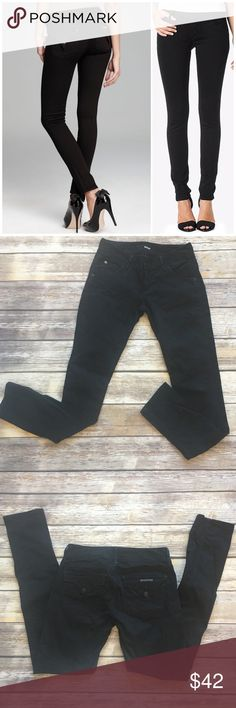 "Hudson Black Skinny Jeans Hudson Black Skinny Jeans. Front rise 8""/ back rise 10""/ inseam 30"". The black color is a bit faded. But overall good condition Hudson Jeans Jeans Skinny"