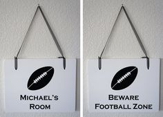Personalized Name Room /  Football Zone White & by Frameyourstory, 29.00