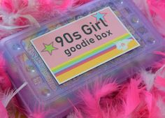 Blast from the Past Girl Goodie Box, Mystery Box, Nostalgia Box - lyanna rose zammas Aesthetic Indie, Aesthetic Collage, Aesthetic Vintage, Aesthetic Beauty, Collage Mural, Photo Wall Collage, Wallpers Pink, Purple, School Pencil Boxes