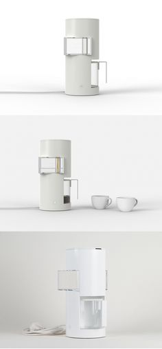 "Inspired by Japanese architecture, the profile of Yu Huiyang's Architecture Coffee Maker sports a remarkable resemblance to a vertical dwelling! Through its ""windows,"" users can get an inside look at the inner workings of the system. As the coffee flows through the tube inside the cube water tank, users can observe clear water and brewed coffee overlap in a unique visual experience followed by an awakening coffee aroma! #YankoDesign #Technology #Kitchen #Water #Tank #Coffee #Architecture"