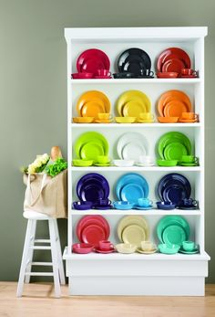 Fiesta® Place Settings. Just got four in the mail 2 in sunflower and 2 in scarlet. I need all of the colors!