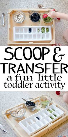 This super simple and easy to set up activity is a great way for toddlers to build their fine motor skills