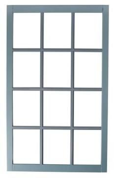 Create your own window pane mirror using small mirrors for the panes and no need to buy an acutual old window