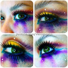 Eek! Venusocean is such a creative little kitten! She used all Sugarpill eyeshadows to create this galaxy-like explosion of color.