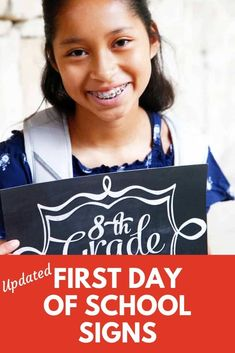 These free printable first day of school signs are a quick way to date your back to school photo this year. Grade signs make the perfect photo prop, and it's a handy way to mark the year in the photo album. First Day Of School, Back To School, School Signs, School Photos, Rainbow Loom, Fourth Grade, Perfect Photo, Photo Props, School Stuff