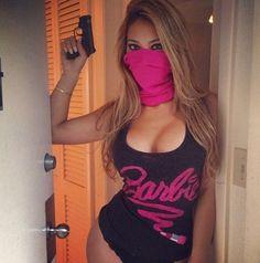 Masked Bandit shot - Livia Gullo Model