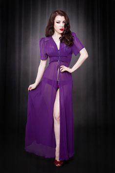 Kiss Me Deadly Elle Robe in Purple!