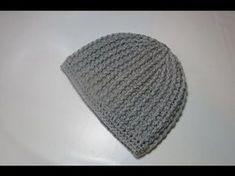 Berretto Punto Batuffolo e Costine - Tutorial Uncinetto - YouTube Crochet Beanie, Crochet Baby, Knitted Hats, Knit Crochet, Crochet Gratis, Free Crochet, Crochet Videos, Fascinator, Headbands