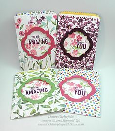 HSDT Video: Painted Blooms Mini Treat Bags Window Card