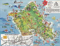 Tourist Map Of Oahu Hawaii Map Inspirations Pinterest Oahu