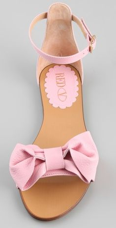 Red Valentino Bow Flat Sandals.