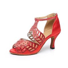 Latin Customized Women's Sandals Customized Heel Silk with Zipper Dance Shoes (More Colors) – AUD $ 57.04
