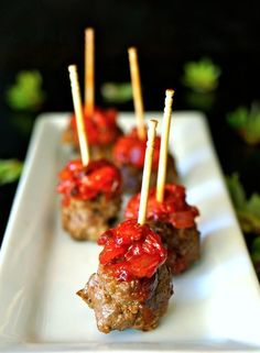 Strawberry-Chipotle Compote Bacon-Meatballs | Cooking on the Weekends