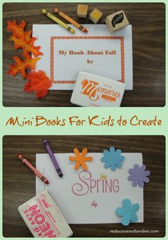 Making Mini Books (free pritables) - Making Mini Books with your child is a really fun activity. It is something that younger children, especially preschoolers, love to do.  -