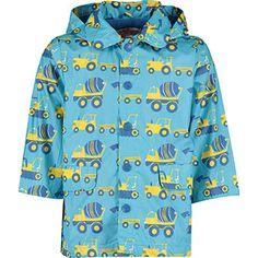 Blue & Yellow Truck Raincoat