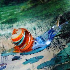Murano Glass' Snail hanmade in Italy