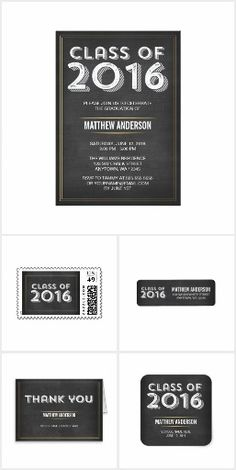 matching invites thank you cards address labels paper plates and more a modern masculine design perfect for a high school or college guy graduation