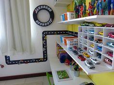 quarto infantil azul e vermelho carros - Pesquisa Google