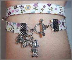 tutoriel bracelet biais liberty - Elara Creatif