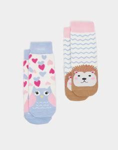 Neat feet Owl Two Pack Bamboo Socks | Joules UK