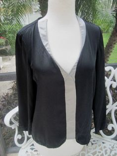 80s Vintage Couture Designer Luxe Geoffrey Beene Gorgeous Silk Black Blouse Top  #GeoffreyBeene #Blouse #Career