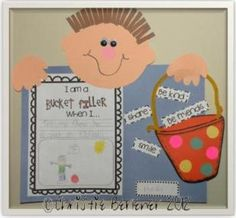 Bucket Filler Cuties Craftivity by First Grade Fever by Christie First Grade Writing, First Grade Classroom, School Classroom, Classroom Decor, Classroom Board, Classroom Behavior, School Social Work, School Fun, School Ideas