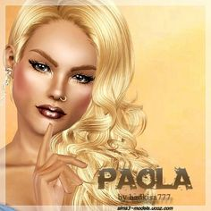 Paola female model by badkisa777 at SIms 3 Models - Sims 3 Finds