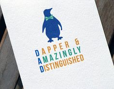 Hey, I found this really awesome Etsy listing at https://www.etsy.com/listing/73883459/cute-penguin-fathers-day-card-for-dad