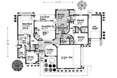 European Style House Plan - 3 Beds 2.50 Baths 2260 Sq/Ft Plan #310-246 Floor Plan - Main Floor Plan - Houseplans.com