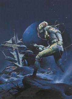 Space Fantasy, Sci Fi Fantasy, Sci Fi Kunst, Science Fiction Kunst, Arte Sci Fi, 70s Sci Fi Art, Arte Tribal, Classic Sci Fi, Fantasy Illustration