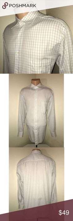 ERMENEGILDO ZEGNA Multi Color Plaid Dress Shirt Size: 42, 16 1/2 (Large) Color: White & Black Plaid Tag Measurements- 42, 16 1/2 (L) Material: 100% Cotton Condition: Excellent Features: Long Sleeve, Front left breast pocket, Comfortable, Spread Collar, Standard Cuffs Flaws: None Measurements:  Chest - 23 inches  Shoulder - 20 inches  Sleeve - 24 inches  Length - 31 inches Ermenegildo Zegna Shirts Dress Shirts