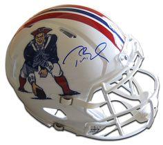 TOM BRADY Signed Authentic Patriots Revolution Throwback Proline Helmet TRISTAR - Game Day Legends