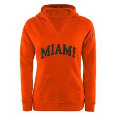 #Fanatics.com - #Fanatics Branded Miami Hurricanes Women's Chain V-Notch Pullover Hoodie - Orange - AdoreWe.com