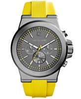 Michael Kors Men's Chronograph Dylan Yellow Silicone Strap Watch 48mm MK8356