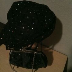 FIONI PURSE, HAT BY SPARKLE Accessories - GLITTER HAT AND BAG