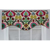 RLF Home Wonderlust Cotton Rod Pocket Scalloped Curtain Valance – wayfair - Modern Curtains, Drapes Curtains, Brick Cottage, Valance, Home, Valances For Living Room, Window Wall, Kitchen Curtains And Valances, Little Girl Rooms
