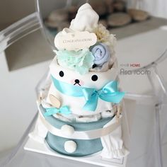 Наборы для новорожденных из Китая :: Сообщение «спот» Кореи приобрести новый baby подарок день подарок первый день рождения Торт Подарочный набор 032.
