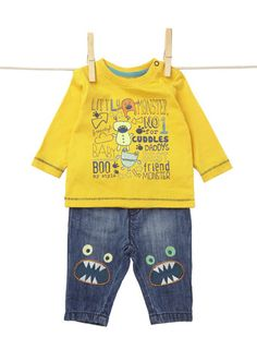 Baby Boys Long Sleeved Monster Top
