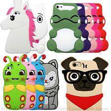El lindo nuevo animales Suave Silicona Goma 3d Funda Protectora Para Iphone 5 5c 6 6s Plus