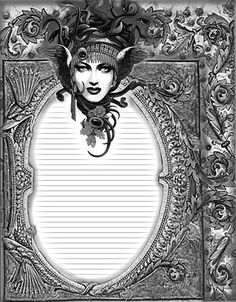 Lined Black and white Book of Shadows Page Goddess Wiccan Witch, Magick, Black And White Books, Disney Frames, Coaster Art, Witch Art, Writing Paper, Book Of Shadows, Altered Books