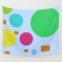 Minimalist hot air balloons tapestry