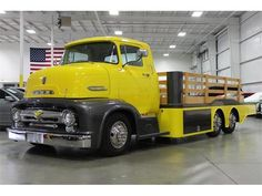 #Yellow 1956 Ford COE
