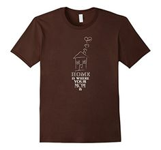 Home is where your mom is White Lines Cute Mother's Day Brown T-Shirt. Make your mommy blush with this adorable t-shirt. Show her your love for any occasion. This Tee is perfect for you mama this holiday. https://www.amazon.com/dp/B06ZZ54YD9/ref=cm_sw_r_pi_dp_x_a2R-yb4AE8P4Q