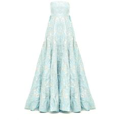 DALILA LONG DRESS IN MATELASSE ($3,195) ❤ liked on Polyvore featuring dresses, gowns, full length gowns, couture dresses, long dresses, strapless evening dresses and strapless long dresses