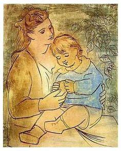 «Mère et enfant», Picasso (1922)