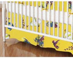 SheetWorld Crib Skirt  Curious George Fun Crib Rail Guard, Best Crib, Crib Skirts, Curious George, Crib Bedding, Bedding Collections, Walmart Shopping, Cribs, Toddler Bed