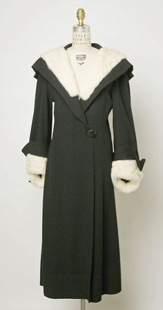 Coat  Attributed to Madeleine Vionnet  (French, Chilleurs-aux-Bois 1876–1975 Paris)  Date: ca. 1933 Culture: French