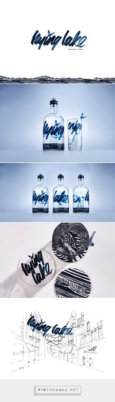 Flying Lake - Legendary Vodka (Student Project) - Packaging of the World - Creative Package Design Gallery - http://www.packagingoftheworld.com/2016/11/flying-lake-legendary-vodka-student.html