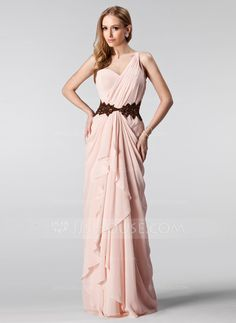 Prom Dresses - $139.99 - A-Line/Princess One-Shoulder Floor-Length Chiffon Prom Dress With Ruffle Beading Sequins Cascading Ruffles (018004909) http://jjshouse.com/A-Line-Princess-One-Shoulder-Floor-Length-Chiffon-Prom-Dress-With-Ruffle-Beading-Sequins-Cascading-Ruffles-018004909-g4909